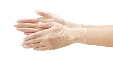 service plastic gloves
